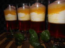 Deser z pomarańczowym akcentem