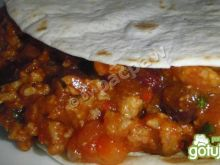 Diabolo picadillo tortillas