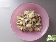 Dietetyczna jajecznica z pieczarkami