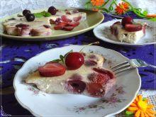 Dietetyczne claufotis z truskawkami i czereśniami