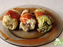 Dietetyczne gołąbki w kapuście włoskiej