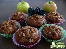 Dietetyczne jabłkowe muffinki ze śliwką
