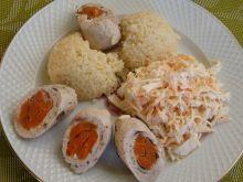 Dietetyczne roladki z indyka z marchewką