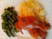 Dietetyczne udka w sosie pomidorowym