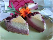 Dietetyczny dwukolorowy sernik wiśniowy