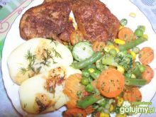 Dietetyczny filet z kurczaka z warzywami