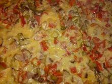 Domowa pizza z róznymi składnikami
