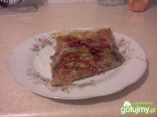 Domowa pizza z wędliną-moja pierwsza!