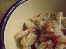 Domowe łazanki z kurczakiem i pomidorem