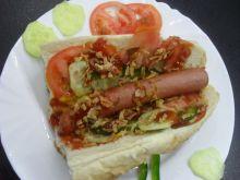 Domowej roboty hot dog