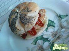 Domowy burger drobiowy