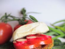 Domowy burger ze schabowym