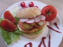Domowy drobiowy hamburger