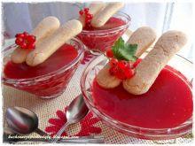Domowy kisiel z czerwonej porzeczki