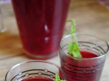 Domowy kompot wiśniowo śliwkowy
