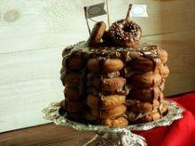 Donut cake, tort pączkowy z czekoladową truflą