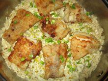 Dorsz z patelni z ryżem i porem