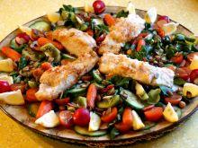 Dorsz z warzywami z dressingiem na bazie kiwi