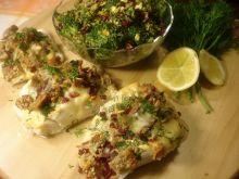 Dorsz żurawinowo chlebowy z brokułami