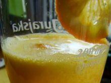 Drink pomarańczowo-jabłkowa pianka
