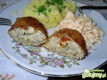 Drobiowe kotlety z pieczarkami i masłem