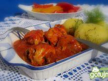 Drobiowe roladki w sosie pomidorowo piec