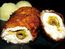 Drobiowe roladki z oliwkami i mozzarellą