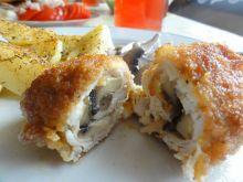 Drobiowe roladki z pieczarkami i serem