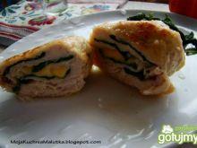Drobiowe roladki z szpinakiem i serem
