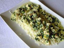Drobiowo - szpinakowy sos z ryżem