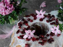 Drożdżowa baba kakaowo- żurawinowa