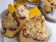 Drożdżowe dyniowe ciasto ze śliwkami i kruszonką