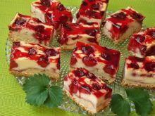 Drożdżowe z serem i karmelizowanymi truskawkami