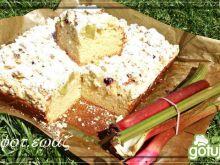Drożdżówka - rabarbar i borówka