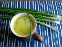 Duńska zupa porowa z zieloną cebulką