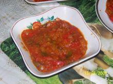 Duszona papryka z kiełbasą