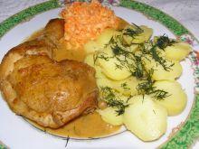 Duszone udka kurczaka w cebuli