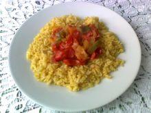 Duszone warzywa z ryżem z curry