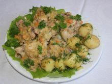 Duszony królik z ziołami