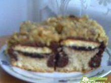 Dwukolorowe ciasto z biszkoptami