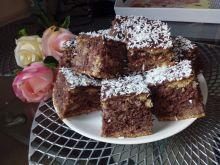 Dwukolorowe ciasto z kaszy manny