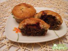 Dwukolorowe muffinki ze śliwkami