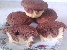 Dwukolorowe muffiny z bananem