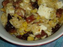 Dyniowe risotto z boczkiem i fetą