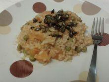 Dyniowe risotto z zielonym groszkiem