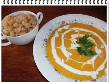 Dyniowo-marchewkowa zupa krem Eli