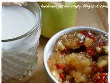 Dżem jabłkowy z kardamonem i jagodami goji