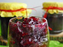 Dżem wiśniowy z sokiem z czarnej porzeczki