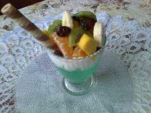 Egzotyczny deser z żurawiną