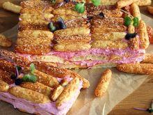 Ekspresowe ciasto ze słomki ptysiowej i kremu